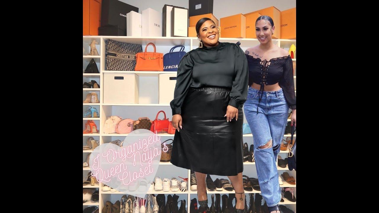 I organized Queen Naija's Closet