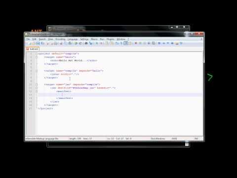 7  Ant Framework Jar Target Example (in Arabic)
