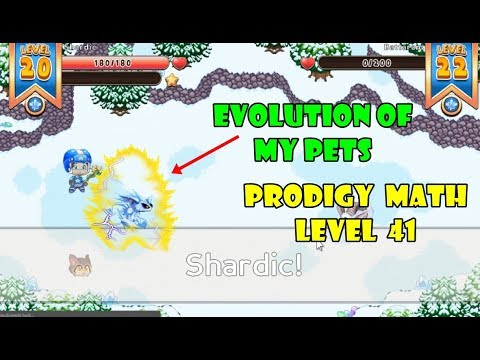 Prodigy Math Game: (EVOLUTION OF MY PETS) | Level 41 | Part 24 - Games For Childrens