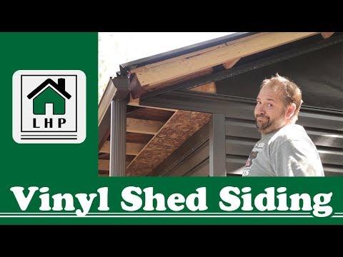 Vinyl Shed Siding DIY Install - LHP