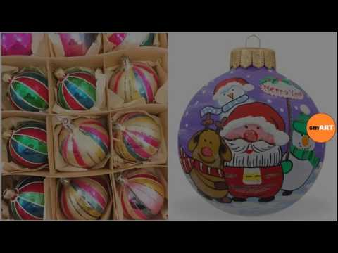 Christmas Ornaments - Clear Glass Ornaments