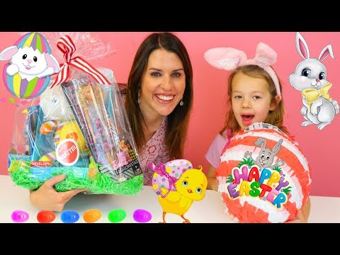 SPECIAL EASTER BASKET & Easter Pinata From Mattel Filled With Easter Toys