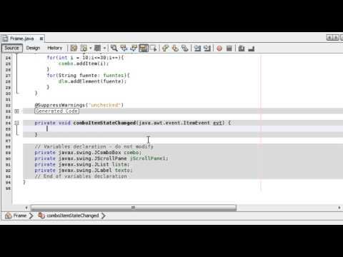 Tutorial 33 Java - Ejercicios, Clase Font cambiar tipografía en tiempo real