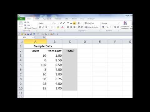 reallycoolExcel training video #17:  Simple Formulas