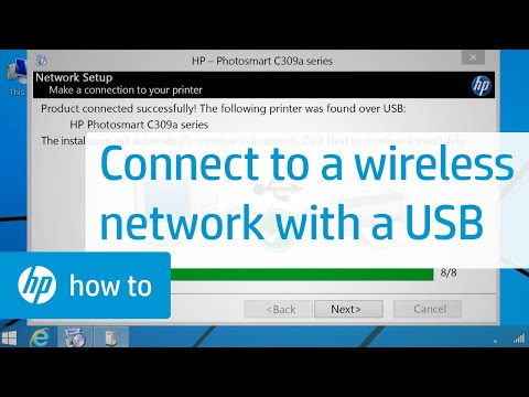 Connecting a Wireless Printer to a Wireless Network Using a USB