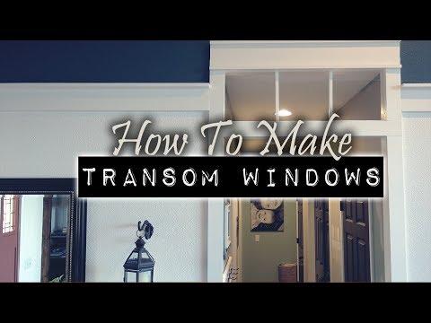 Craftsman Transom Window Project   DIY & Home Design