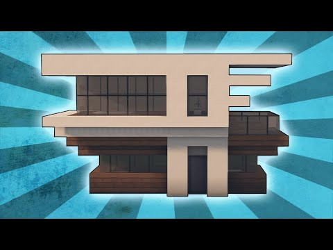 Minecraft: How To Build A Small Modern House Tutorial (#2)