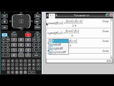 Difference Quotients on TI-Nspire