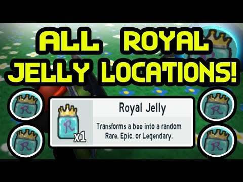 ALL ROYAL JELLY LOCATIONS | Bee Swarm Simulator | ROBLOX
