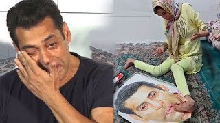 Salman Khan Gets EM0TIONAL & CRIES After Seeing His Painting Made B Disabld Girl Fan From Iran