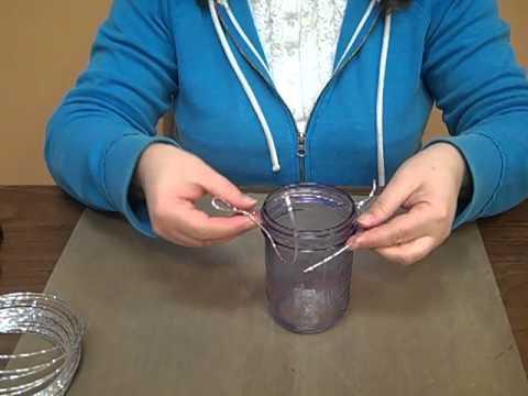 How to Wrap a Wire Around a Mason Jar