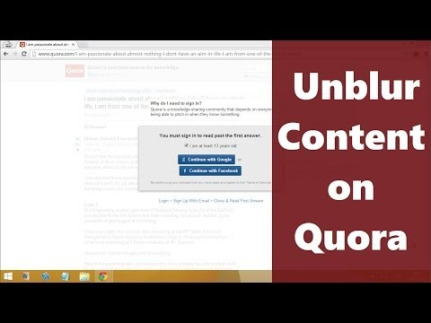 Quora-Unblur/Read Content Without Signin or Signup