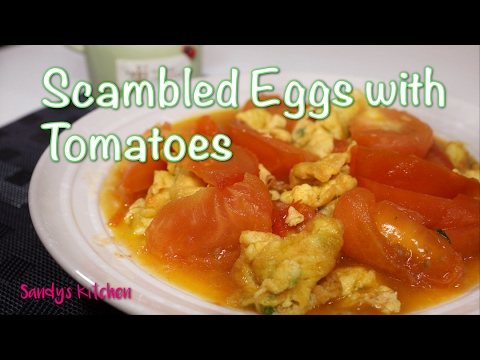 Scrambled Eggs with Tomatoes - Chinese Staple Dish - 番茄炒蛋