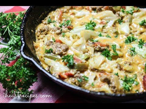 Cheesy Cabbage Creole - Easy Dinner Recipes - I Heart Recipes