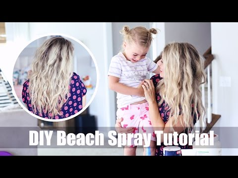 DIY Beach Spray Tutorial | sea salt recipe