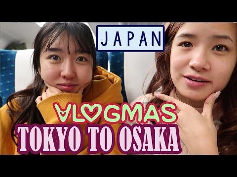 TOKYO to OSAKA | Bullet Train | Vlogmas #9 | KimDao ft. Sunnydahye