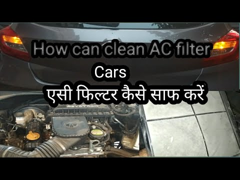 AC filter / Cabin air filter Cleaning - Tata Tiago Autocar doctor