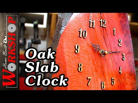 How to build an oak slab clock