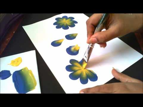 How to make basic one stroke painting strokes- explained for begginers