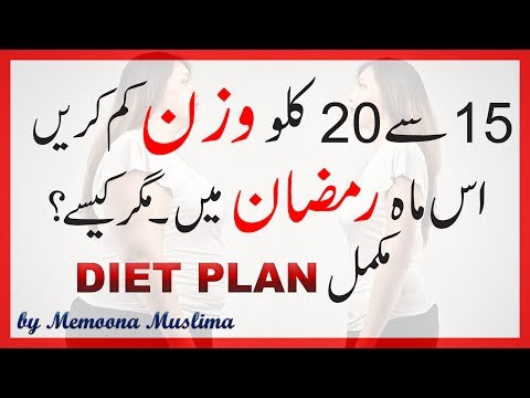 Ramadan Weight Loss Diet Plan & Tips 2017 Urdu Hindi
