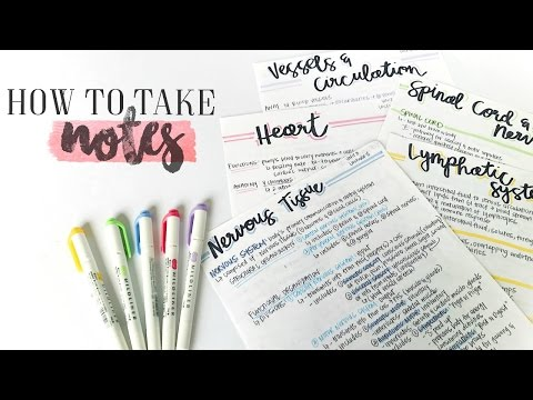 How To Take AWESOME NOTES & STUDY EFFECTIVELY! | Study With Me 2017