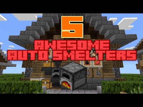 5 Awesome Auto Smelters! | MCPE 0.15.X+ Map!