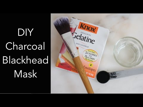 DIY Charcoal Blackhead Mask, Peel Off Mask, No Glue, Use with a Paper Towel
