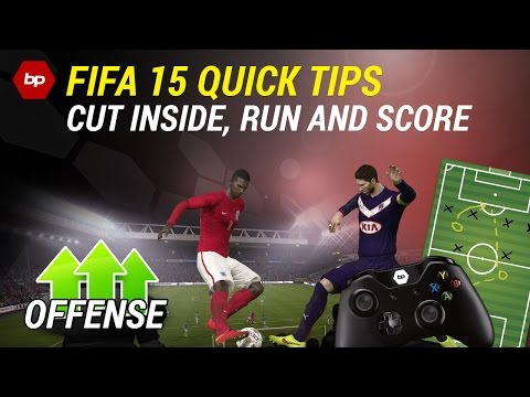 FIFA 15 Quick Tips   Cut inside, run and score   Dribbling Tutorial   How to beat the defender