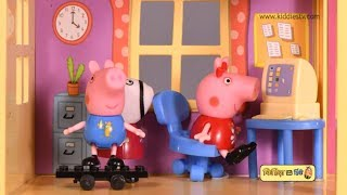 Peppa pig Hide and seek story in new house in Hindi | Toy videos | Kids videos | Kiddiestv Hindi
