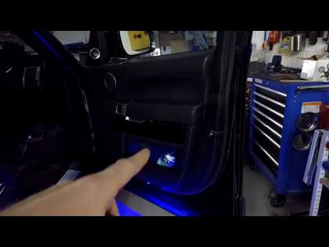 How to change the Ambient interior lighting colour on Range Rover L405