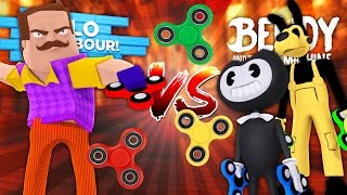 Minecraft HELLO NEIGHBOUR - THE NEIGHBOUR & BENDY STOLE ALL THE FIDGET SPINNERS!! - Donut the Dog