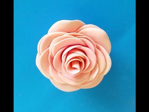 Easy Fondant Roses - Easy Gum Paste Rose