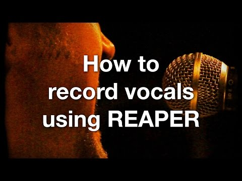 How to record vocals using REAPER