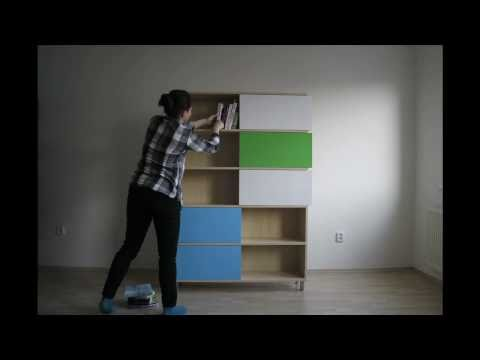 building a bookshelf from scratch - Hide and Show designed by Miriama Balažová