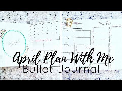 April Plan With Me 2018 | Minimalist Bullet Journal Setup | Jacqueline Wheeler
