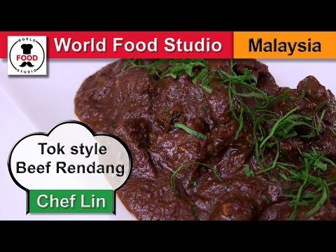 Malaysian Tok style Beef Rendang - Rendang Tok - Chef Lin - World Food Studio