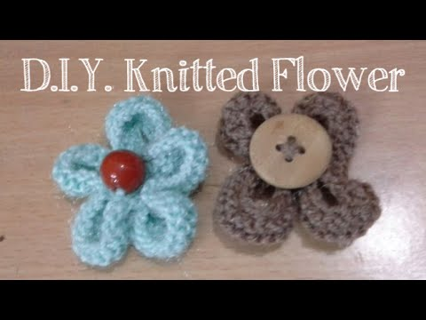 D.I.Y. Knitted Flower