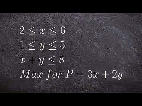 How to maximize an objective function for linear programming