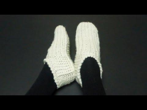 Knitted SEAMLESS Basic Adult Slippers