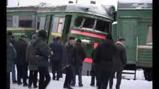КРАШ-ТЕСТ эл-поезда ЭР-2.avi