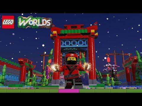 LEGO Worlds Chinese New Year Flower Garden Brick Build Showcase