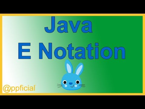 Java E Notation - Doing Scientific Notation in a Java Program - Java Tutorial - Appficial