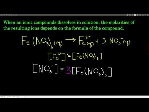 Chem143 Molarity of Ions