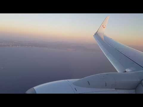 Thomson Airways/ TUI Landing at Rhodes Diagoras Airport (RHO) from London Luton Airport (LTN)