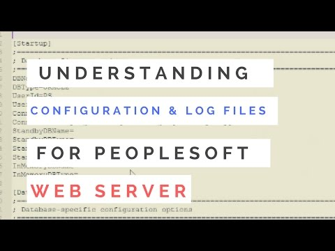 Configuration and Log Files for Webserver