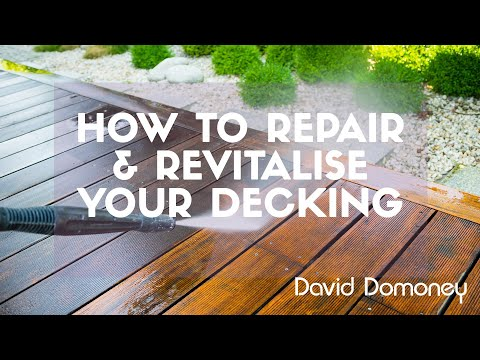 How to repair and revitalise old decking wood boards