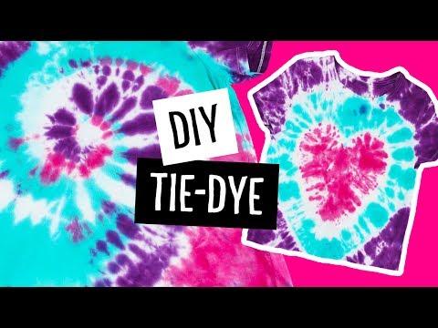 DIY Swirl & Heart Tie-Dye T-Shirts | Sea Lemon