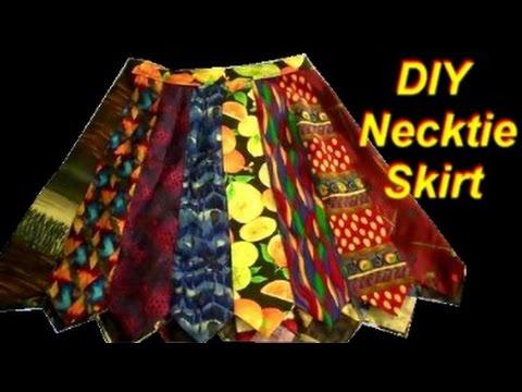 Easy DIY Necktie Skirt