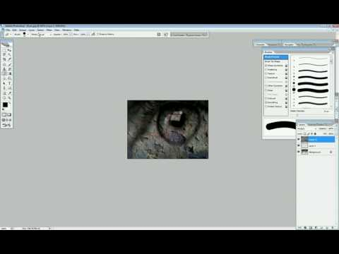 Merging photos with Photoshop easy (voice)