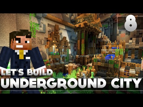 Minecraft - Advanced Underground Base/City Tutorial Let's Build Part 8 Xbox 360/PC/PS3
